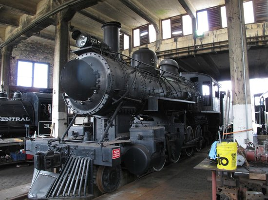 Georgia State Railroad Museum: Steam Engine 223 in the round house