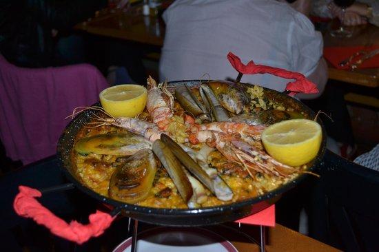 Las Tapas : paëlla aux fruits de mer