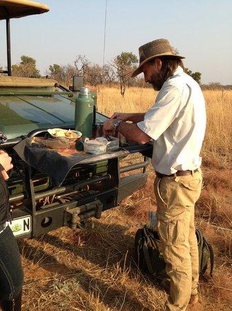 Makweti Safari Lodge: Bush coffee time
