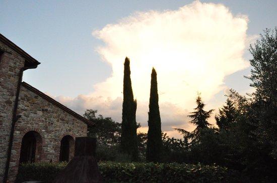 Agriturismo Tenuta il Casone: sunset at Tenuta il Casone