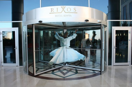 Rixos Konya: Whirling dervish at the entrance of the hotel