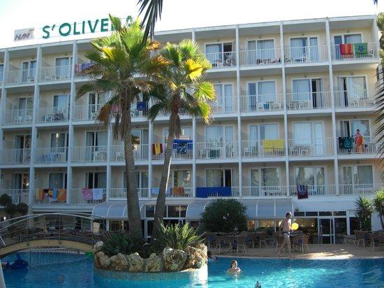 HSM S'Olivera: vue de l hotel de la piscine