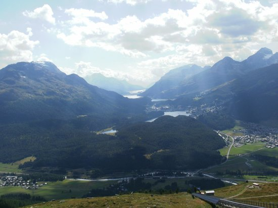 Engadine: View from Mouttas Muragl