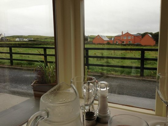 Roadford House Restaurant & Accommodation: Misty evening at dinner. Beautiful view!