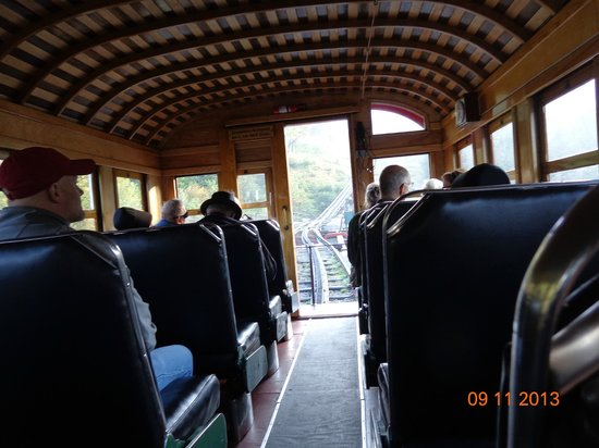 Inside steam engine rail car - Picture of The Mount