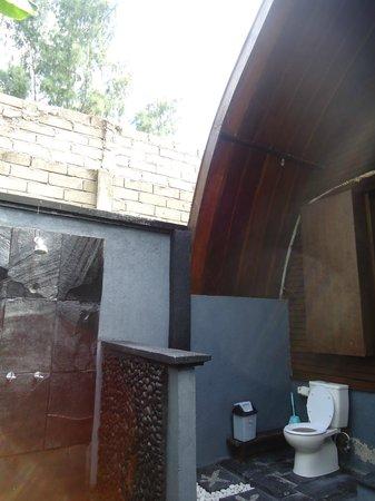 Blue Beach Cottages: Open Bathroom!