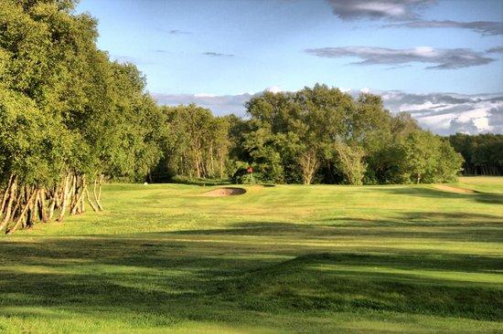 Southport Old Links Golf Club: Sun Setting across the 3rd - Par 3