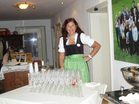 Romantik Hotel der Wiesenhof: apéritif offert lors de la soirée italienne