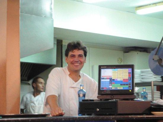 Rhein Restaurant: Juan hard at work in the kitchen!