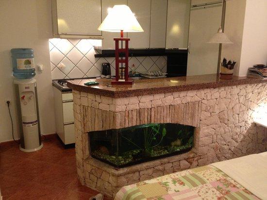 Apartments Lenni: Kitchen and cute fish tank