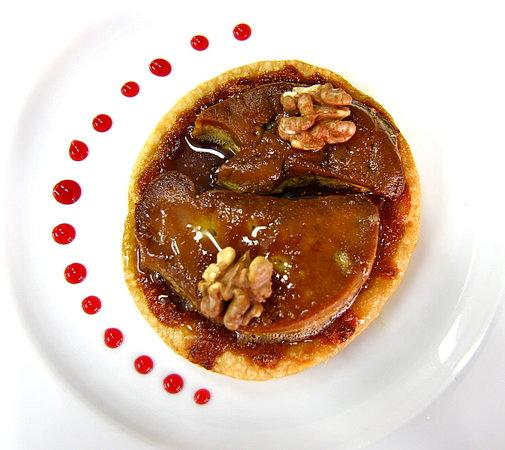 Chambres d'hotes Les Peyrouses : Tarte fine de foie gras poëlé aux figues