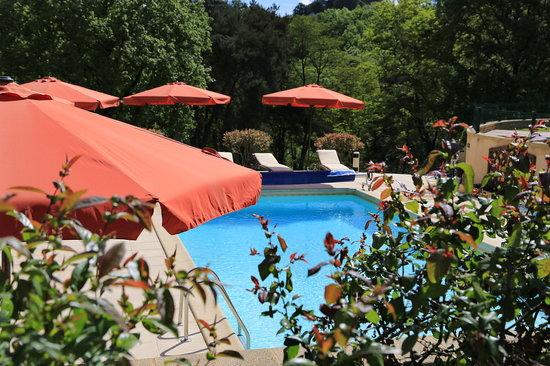 Chambres d'hotes Les Peyrouses : piscine
