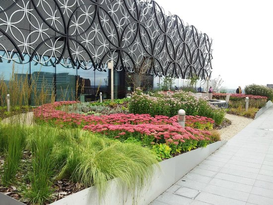 Library of Birmingham: The upper level terrace garden