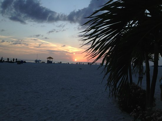 Gulf Gate Resort : sunset on the beach