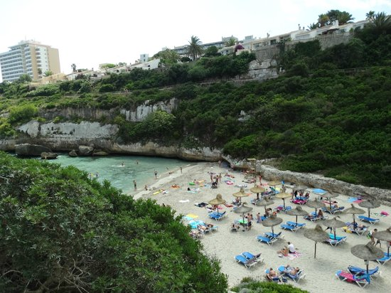 Small beach down the rough track from the hotel - Picture of HSM Canarios Park, Calas de Majorca ...