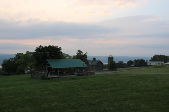 The Inn at Grist Iron: View from lower lodge
