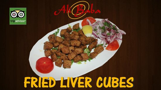 Liver cubes picture of ali baba turkish cuisine new for Ali baba turkish cuisine