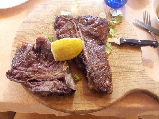 La Tana del Lupo : bistecca di bufalo