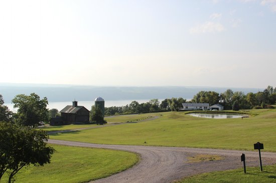 The Inn at Grist Iron: View and in the distance is where the owners reside