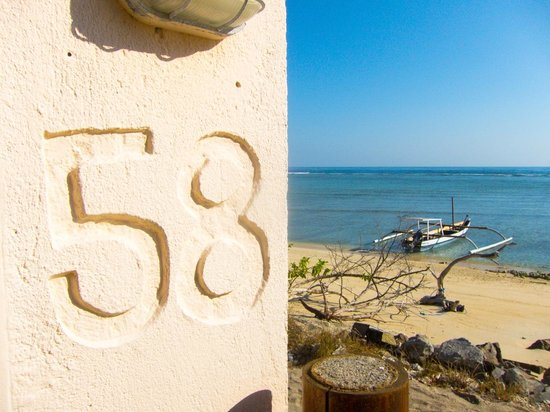 Shack 58 & 59: Shack 58's location on the beach