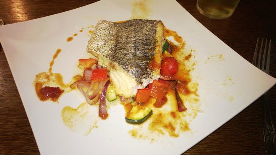 The Floating Bridge Inn: Baked Hake on roasted vegetables-Special