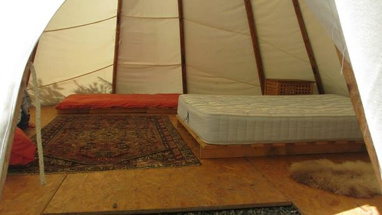 Trellyn Woodland Camping: Inside the Tipi