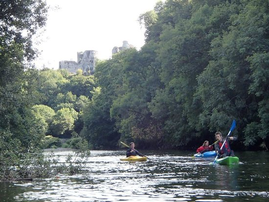 Trellyn Woodland Camping: Teifi River with Cilgerran Caslte in the background