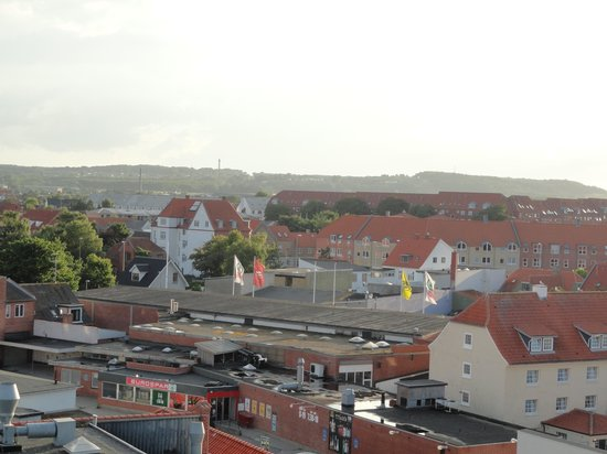 Hotel Jutlandia: A view of the town from the Breakfast Area on the top floor