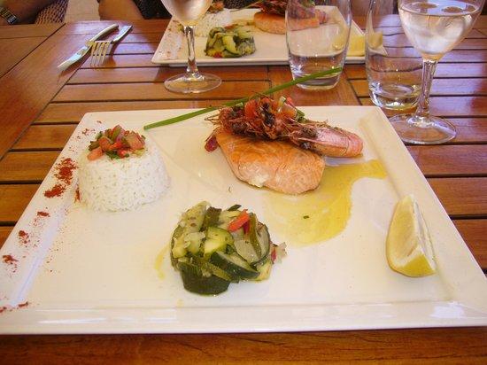 Les Freres de la Baie : saumon ,gambas