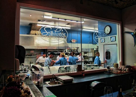 Chef presentation picture of stillwater fish house for Fish store houston