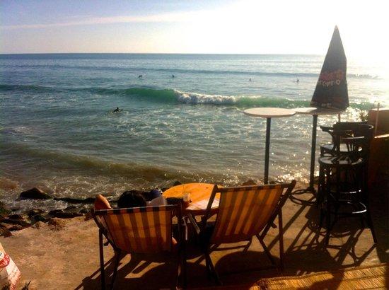 Taghazout Beach : Cafe overlooking beach