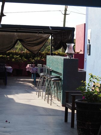 The Hotelito: The dining/bar area.