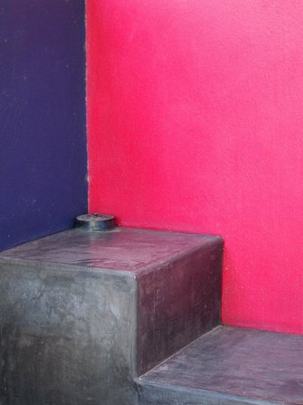 The Hotelito: outside the Azul room.  Gorgeous use of color