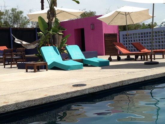 The Hotelito: Colorful pool area.