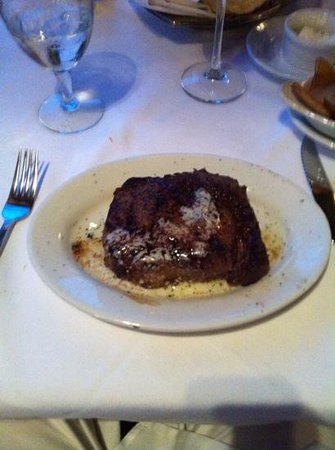 Ruth's Chris Steak House: Ribeye...next time I will ask them to leave the butter off