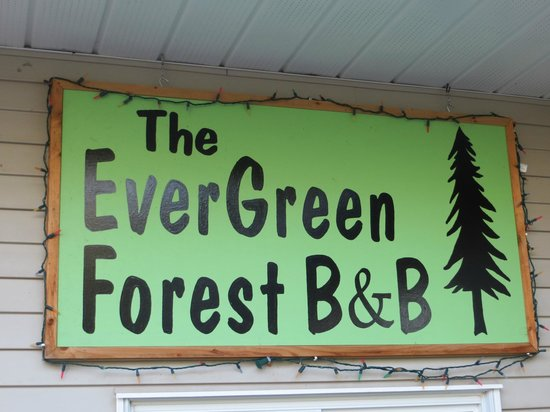 Evergreen Forest B&B: Signage