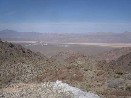 American Adventure Tours: View of Primm from the top of the mountain