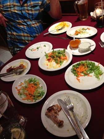 Pashmina: we ate all the delicious starters before I could get a pic!
