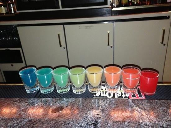 Fireside Lounge - 19th Hole: our rainbow shots!!