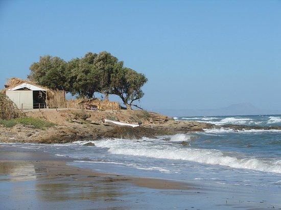 Dedalos Beach : Blick v Strand
