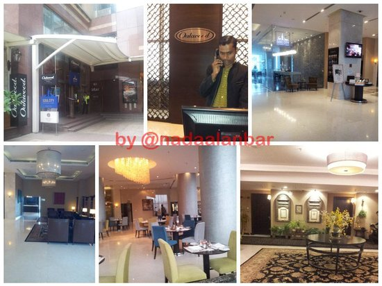 Oakwood Premier Prestige Bangalore: The apartments entrance from the UB city mall,The lobby and Soul city restaurant, and the 10th f