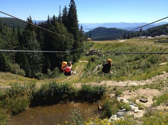 Schweitzer Mountain : Racing on the zipline