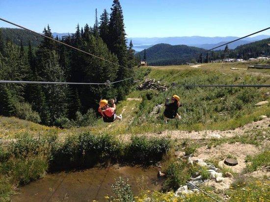 Schweitzer Mountain: Racing on the zipline