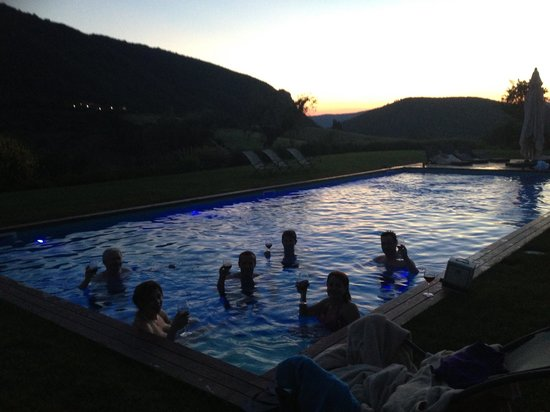 Tenuta di Murlo: Evening dip in the heated pool