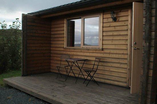 Farmhotel Efstidalur: terrasse de la chambre
