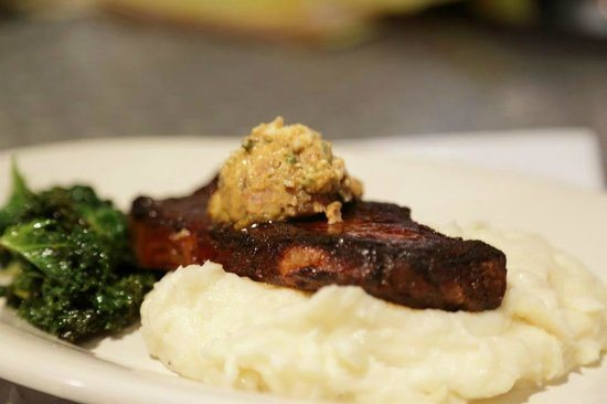 Magnolia Ray: NY strip with tasso ham butter