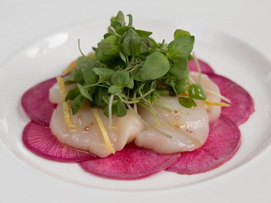 Paramour at Wayne Hotel: Scallop Carpaccio