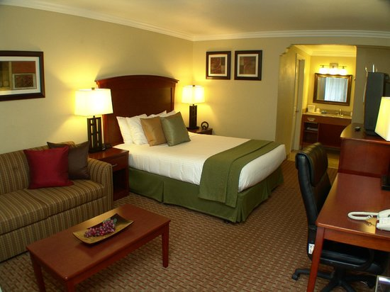 Quality Inn & Suites Santa Cruz Mountains: Deluxe Queen Room with Sofa Seating  Area