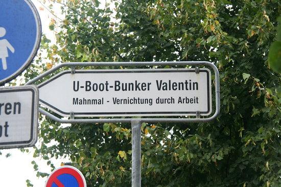 U-Boot Bunker Valentin: Hinweis
