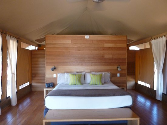 Wildman Wilderness Lodge: Interior of a tented room